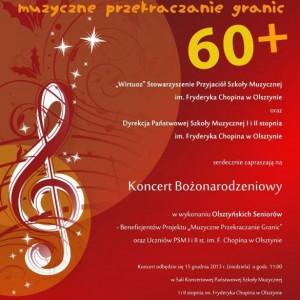 Olsztyn - seniorzy koncert bożonarodzeniowy