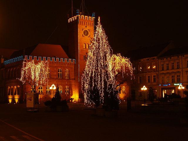 Szczecinek świąteczny widok