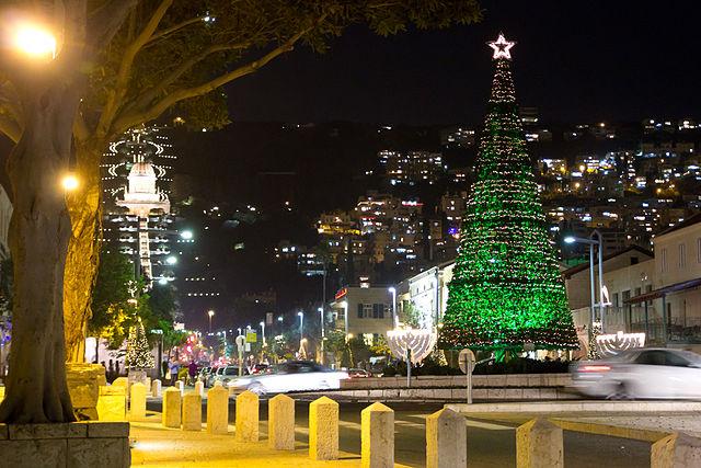 Świąteczny widok - Hajfa, Izrael