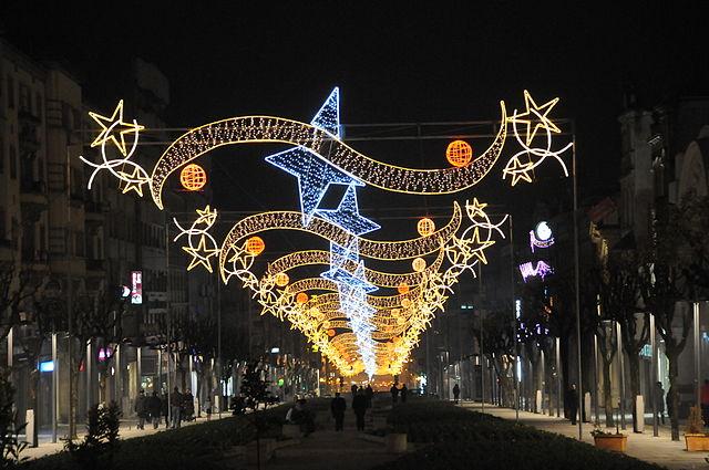 Świąteczne dekoracje uliczne