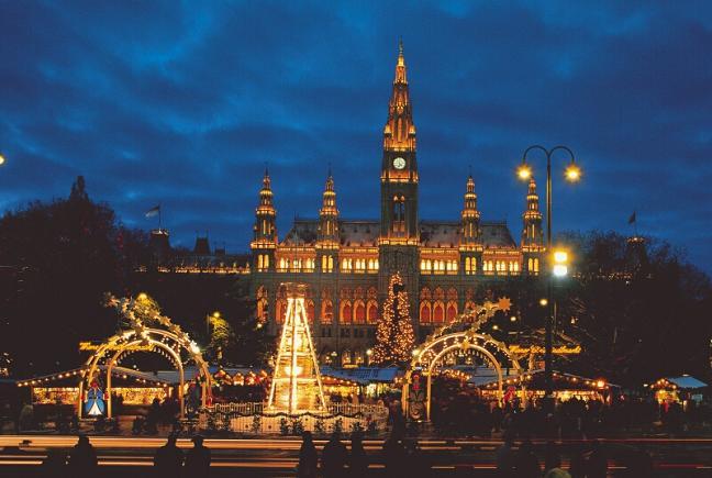 Świąteczne widoki - jarmark w Wiedniu