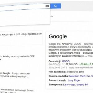 Google wyszukiwarka