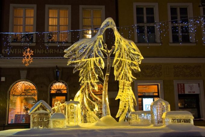 Rzeźby lodowe w Poznaniu