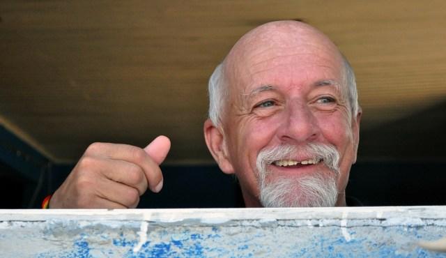 Uśmiech, dziadek, pozytywny, starszy pan