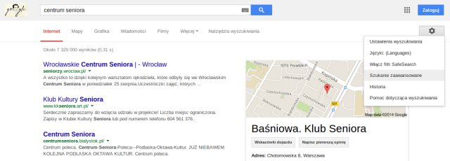 google szukanie zaawansowane