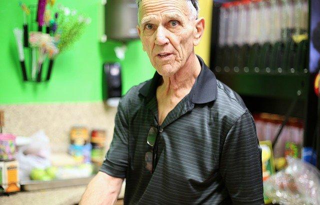 senior mężczyzna