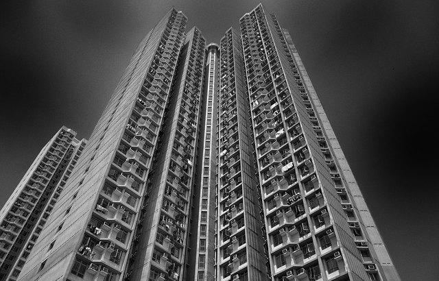 wieżowce bloki