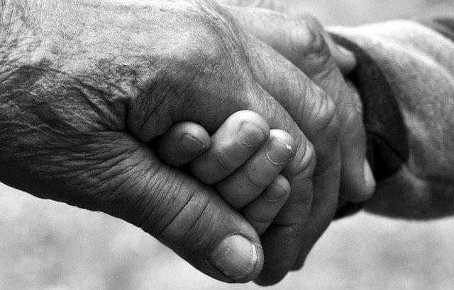 ręce opieka wnuk dłonie dziadkowie
