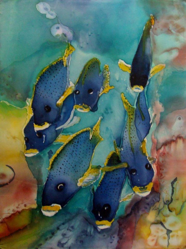Zdzisława Andrys-Arcimowicz: Ryby, jedwab
