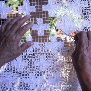 haft ręce robótki