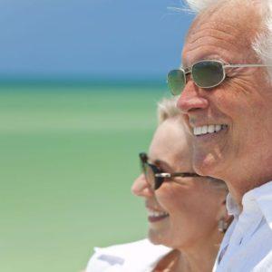 Okulary przeciwsłoneczne dla seniora