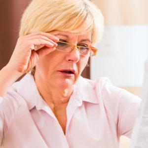 krótkowzroczność, wady wzroku, okulary dla seniora