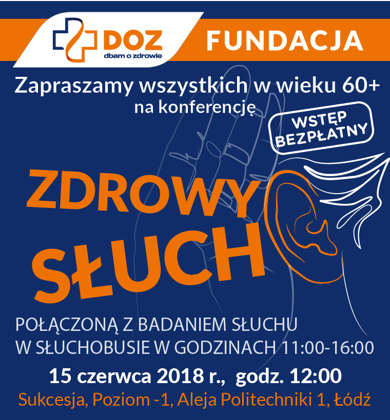 """Spotkanie """"Zdrowy słuch"""", DOZ Fundacja"""